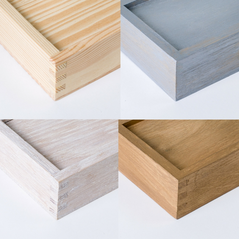 Kolory drewnianego pudełka na pendrive